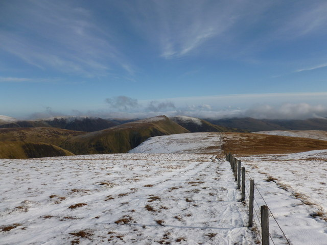 Fenceline on Hart Fell