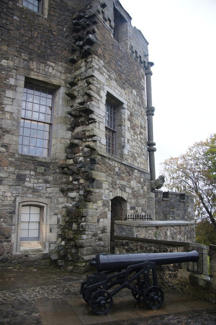 Cannon on the western ramparts of Stirling Castle