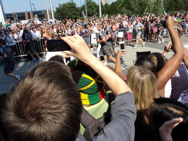 Olympic Torch relay at the 'Bush