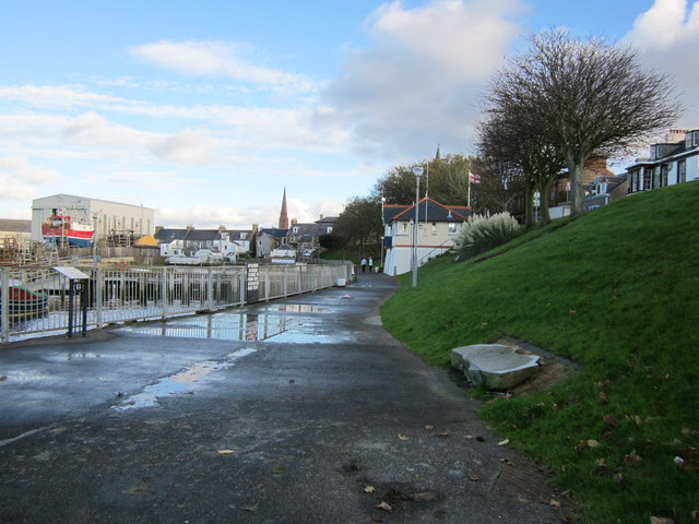 Riverside Footpath at Girvan