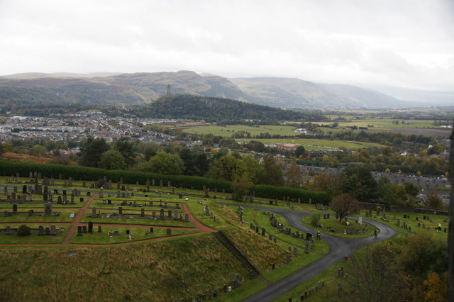 Cemetery below Stirling Castle