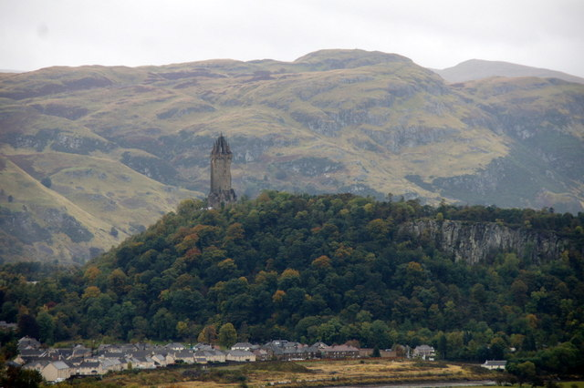 Wallace Monument and Abbey Craig from Stirling Castle