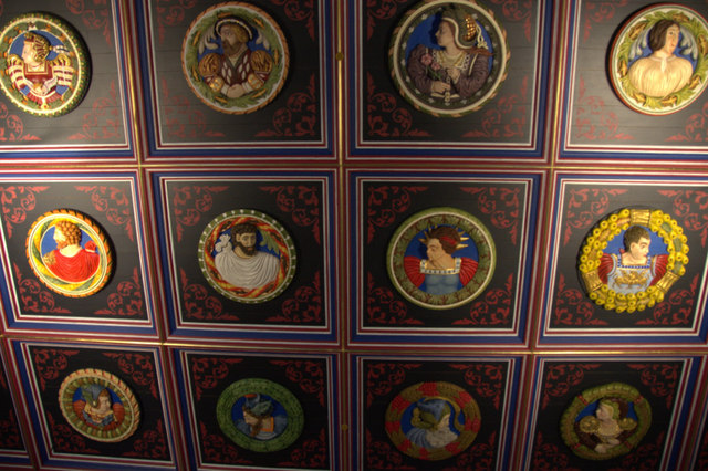 Replicas of the Stirling Heads in Stirling Castle
