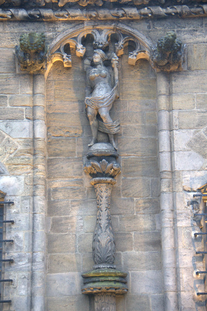 Statue on the outer wall of Stirling Castle