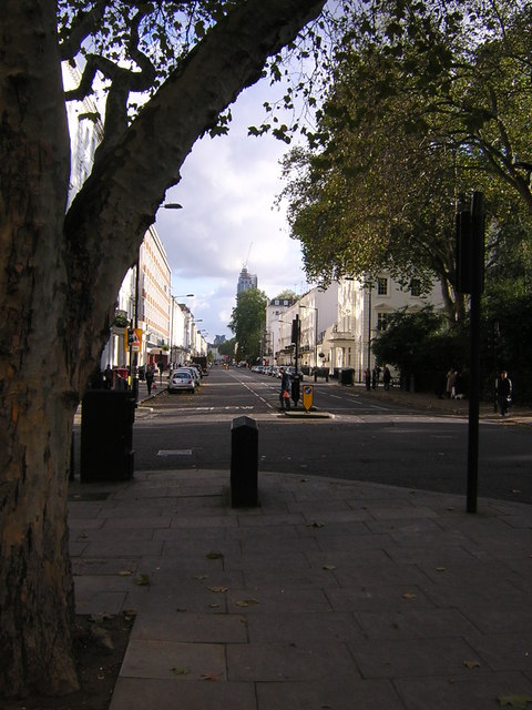 Belgrave Road, Pimlico, from Eccleston Square