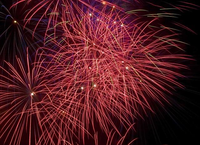 Fireworks over Ashby St. Ledgers