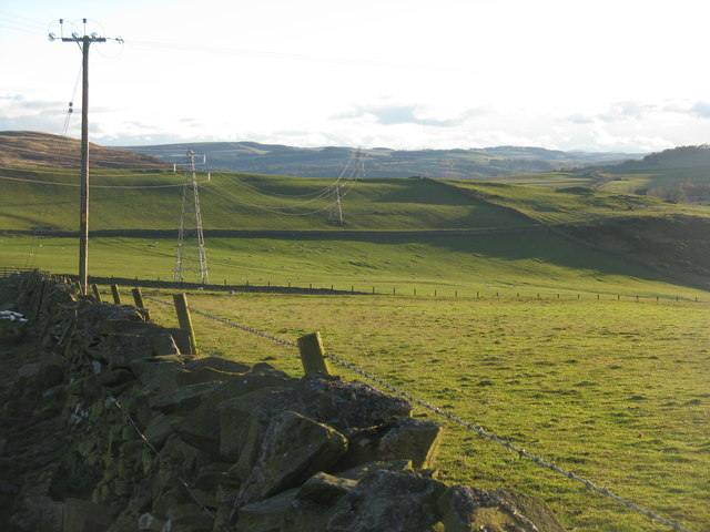 Looking south from Over Langshaw Road