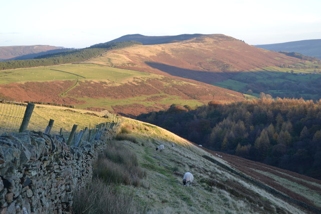 A view of Jaggers Clough and Win Hill