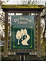 SJ8279 : Chorley Parish Boundary Sign by David Dixon