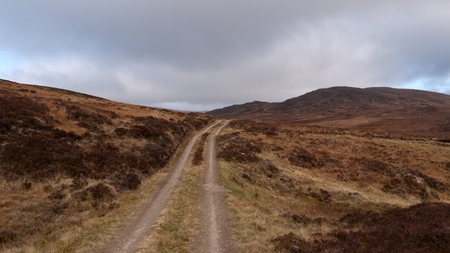 Estate road on slope of Gualann Sheileach
