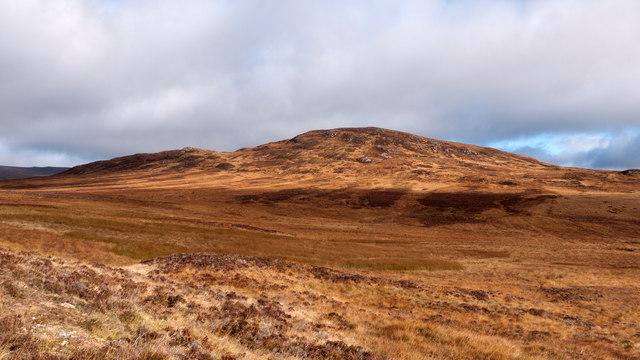 Moorland extending towards Creag a' Mhadaidh