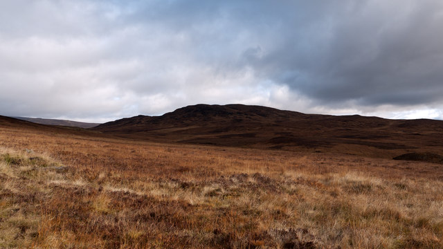 Moorland on south side of Gualann Sheileach