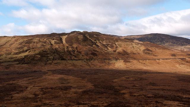 Col between Creag a' Mhadaidh and Gualann Sheileach