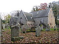 NT5530 : Bowden Kirk and graveyard by M J Richardson