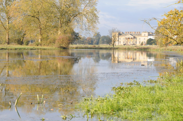 Croome Court reflected in Court River