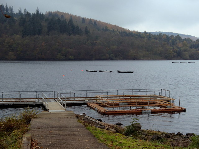 Fishing jetty, Ladybower Reservoir