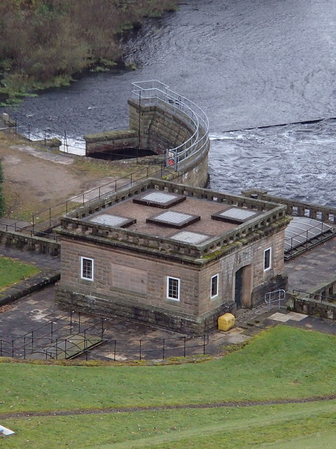 Pumping station below the dam