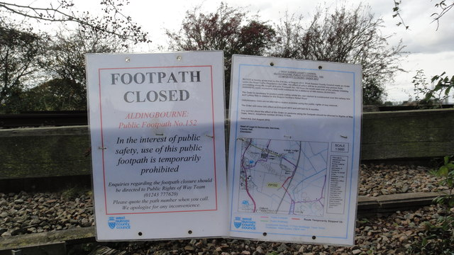 Footpath No.152 - closed