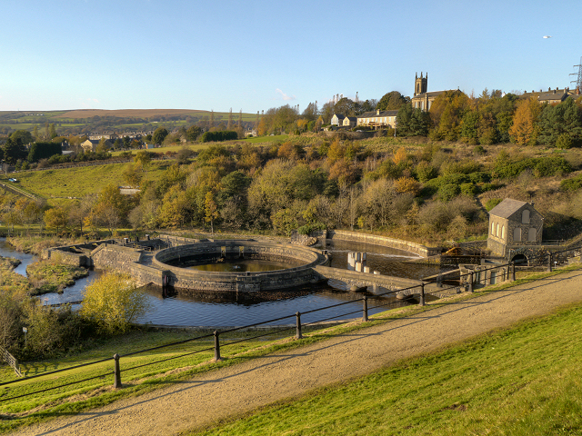 Tintwistle Waterworks from Bottoms Dam