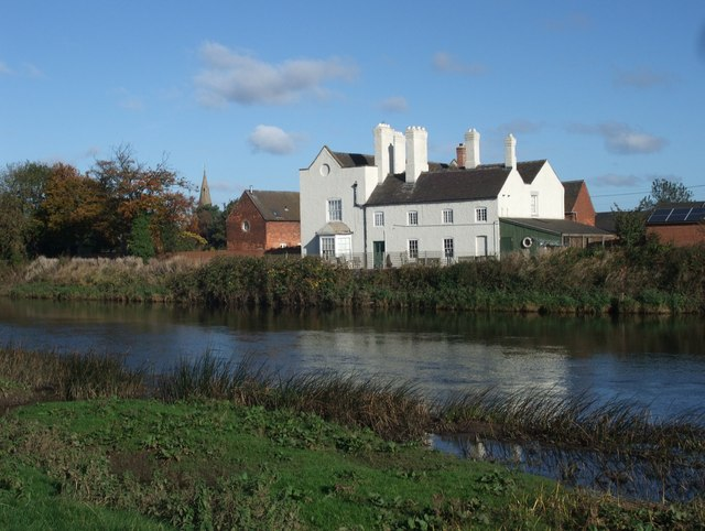 Twyford Hall on the River Trent