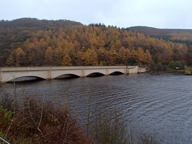 Ladybower reservoir, late autumn afternoon