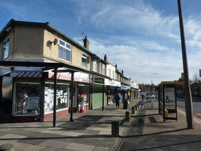 Suburban shops, Woolton Road