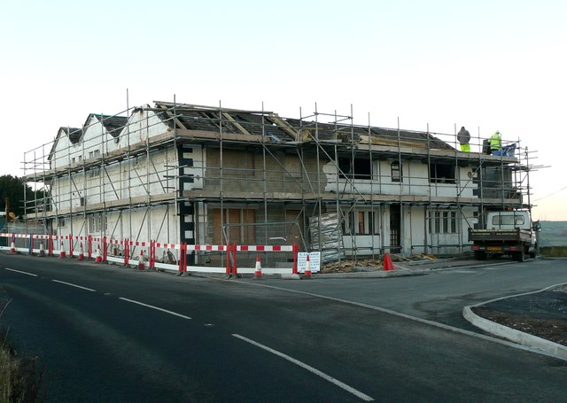 Building work at the Dyer�s Arms, Chain Road, Lingards