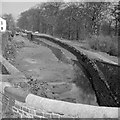 SJ9689 : Dry pound, Marple Locks, 1961 by Robin Webster