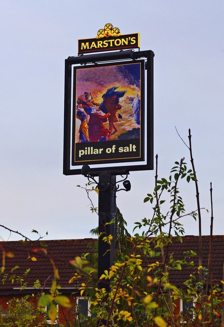 Pillar of Salt (2) - sign, Celvestune Way, Copcutt Hill, Droitwich Spa