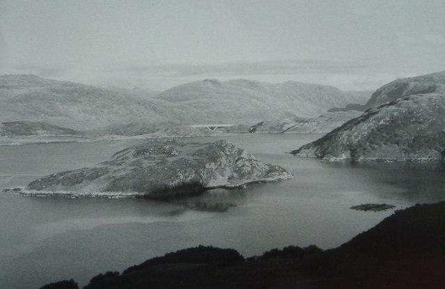 Eilean a' Ghamhna on Loch a' Chairn Bhain