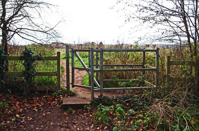Kissing gate entrance to field by Burlish Top Nature Reserve, Stourport-on-Severn