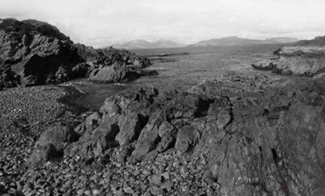Rocks and sea below Meall Eigin-aig