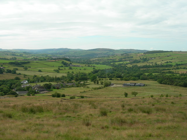 Rowarth, from the path to Cown Edge