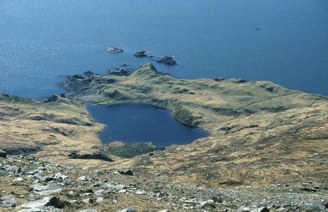 Loch Papadil from Sgùrr nan Gillean