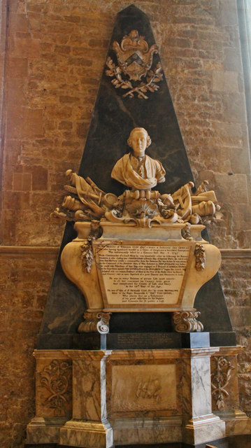 Memorial to William Cust, St Wulfram's church