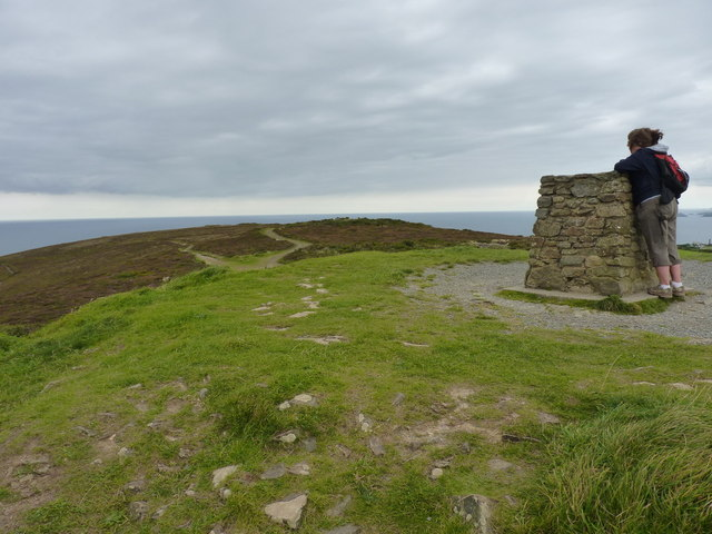 Toposcope on St Agnes Beacon