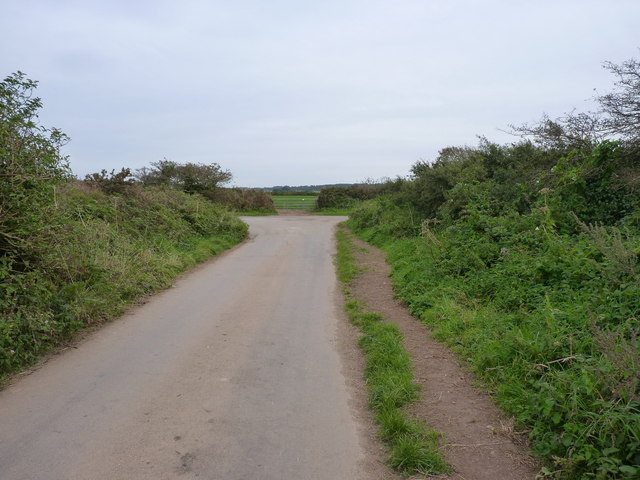 Road junction at Mawla Lane End