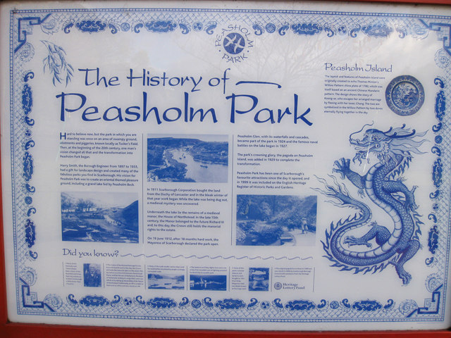 The history of Peasholm Park