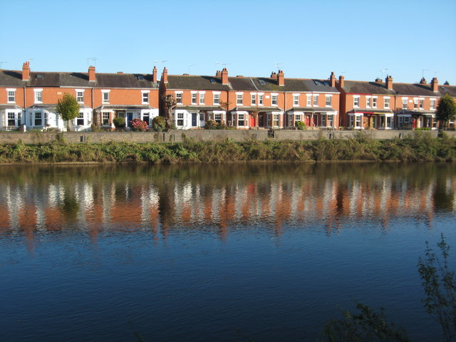 Houses overlooking the River Severn