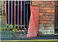 """J0858 : """"Pedlow"""" corner protection, Lurgan (1) by Albert Bridge"""