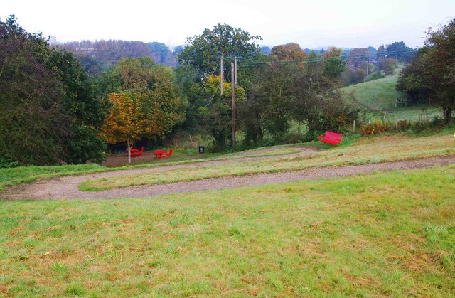 The zig-zag path at Cookley Playing Fields, Cookley