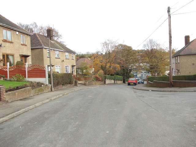 Summerfield Avenue - looking towards Bradford Road