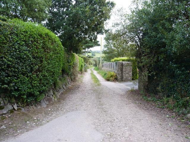 Track to Menagissey Farm