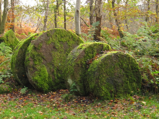 Unused Mill Stones at Lee Cross Quarries