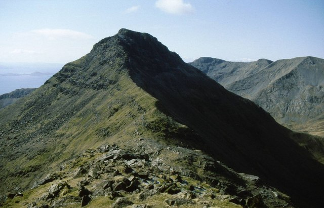 North ridge of Askival