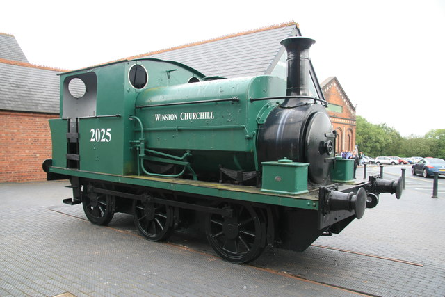 Black Country Living Museum - steam locomotive Winston Churchill