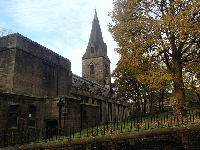 Glossop Parish Church and churchyard