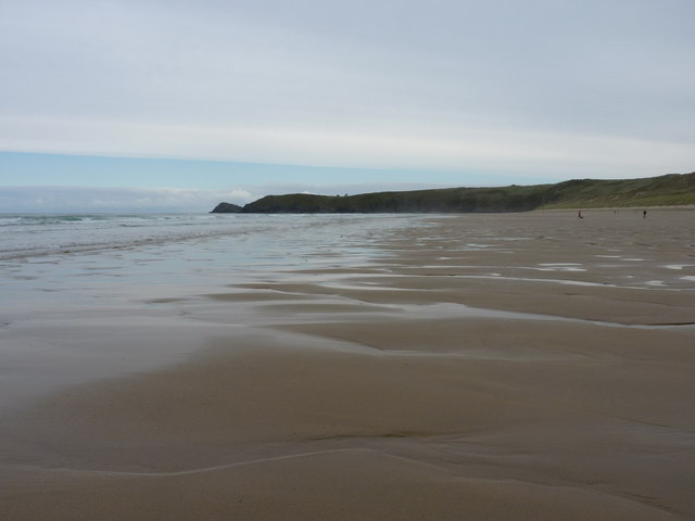 Low tide on Perran Beach