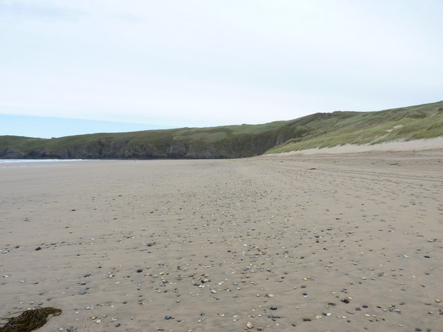 The northern end of Perran Beach