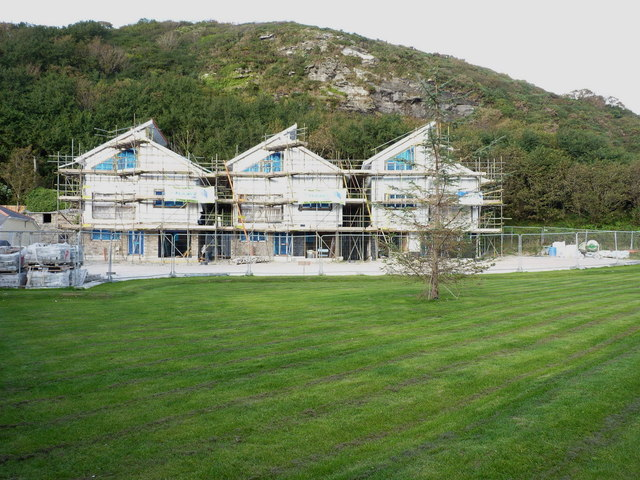 New build houses on Sunnyvale Road, Portreath
